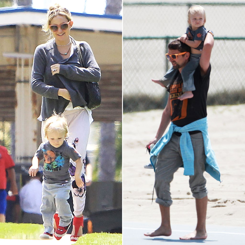 Kate and Matthew Bring Bing to the Beach Ahead of Mother's Day Spa Trip