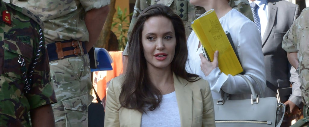 Angelina Jolie's Summer Suit Is the Definition of Professional but Comfortable