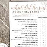 What Did He Say About His Bride Printable Game