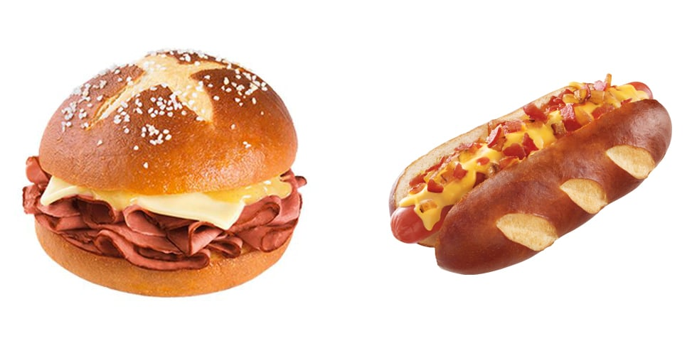 Pretzel Buns in Fast-Food Restaurants