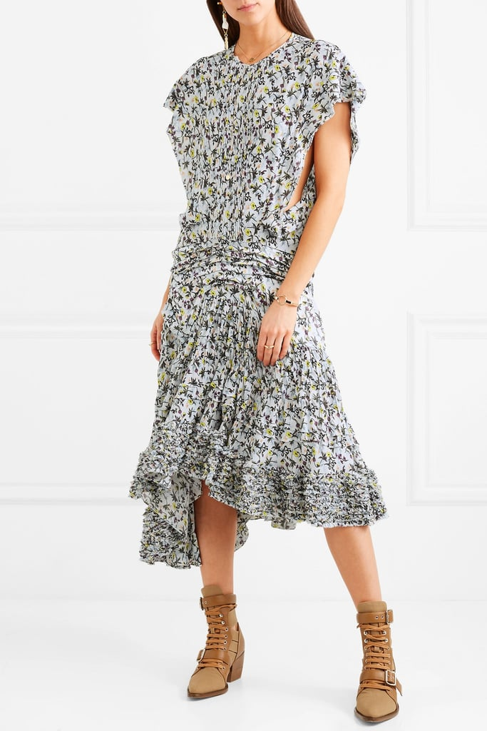 1ae57d0e9c Chloe Pleated Floral-print Georgette Midi Dress | Holly Willoughby's ...