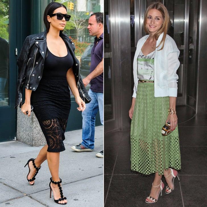 Kim Kardashian's Sheer Skirt