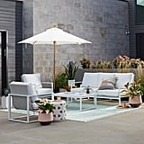 MoDRN Glam Ava 4-Piece Aluminum Sunbrella Cushioned Conversation Set