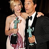 Cate Blanchett and Matthew McConaughey got together with their statues.