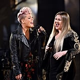 November: She and Kelly Clarkson Touched Hearts With Their Moving Tribute at the AMAs