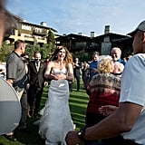 When he was at a golf course in San Diego and crashed a wedding ceremony