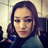 There's only one word for this eye makeup from Monique Lhuillier: fierce!