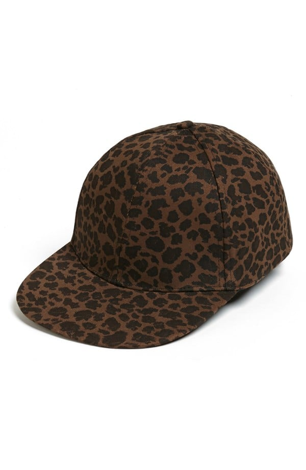Done in dark hues, this David & Young leopard cap ($16) doesn't scream too loudly. Instead, it hits just the right unique pitch.