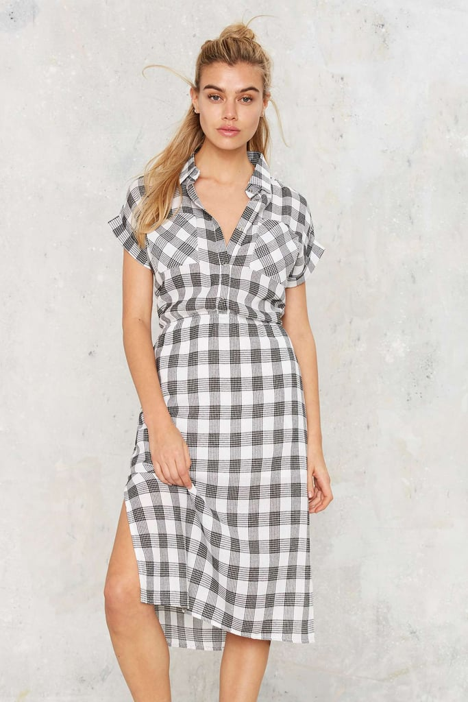 Nasty Gal Walk in the Park Gingham Dress ($55)