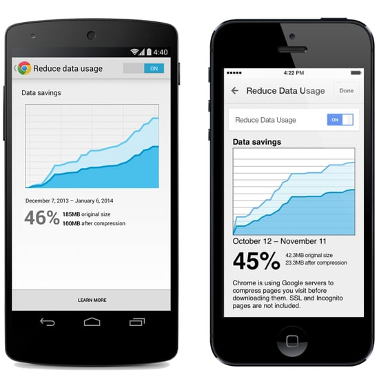 Google Chrome Data Compression
