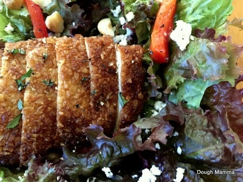 Maple Chicken and Goat Cheese Salad