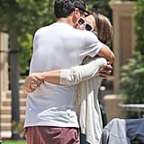 Jessica and Cash hugged it out at an LA park in May 2012.