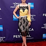 Olivia Wilde posed for the cameras at the Tribeca Film Festival.