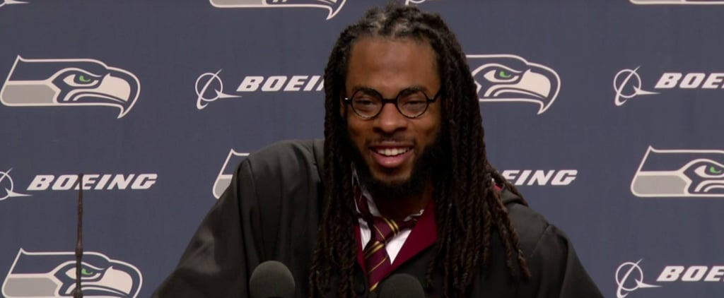 """Richard Sherman of Gryffindor House Says the Seattle Seahawks Do """"Magical Things"""" on the Field"""