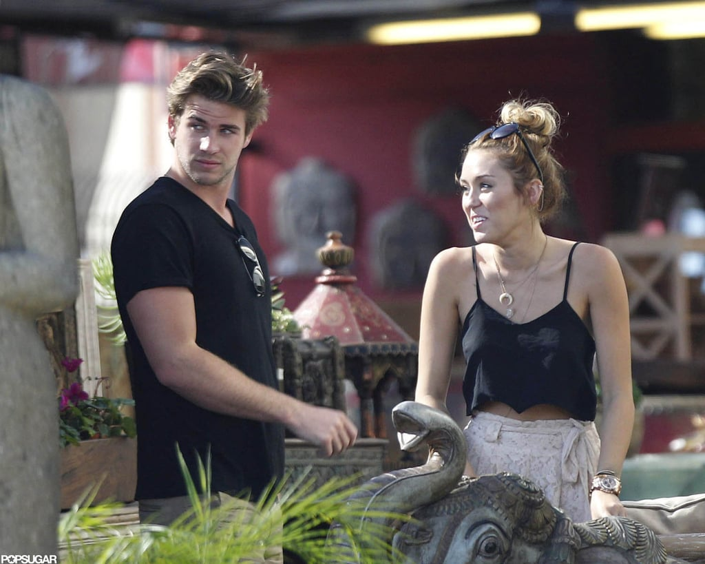 """Miley Cyrus and her boyfriend, Liam Hemsworth, met up with Miley's mom, Tish, to go shopping and grab lunch in LA on Monday. They were just a few of the stars that spent Memorial Day with family, and Miley tweeted that her holiday was """"lovely."""" It'll be back to work for Liam soon, since he's nominated at this Sunday's MTV Movie Awards for his work in The Hunger Games. It's just the beginning of an exciting Summer for Liam, who will start filming Catching Fire and will also be in the spotlight for The Expendables 2 when it hits theaters in August — make sure to check out the new Expendables 2 trailer!"""