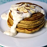 High-Protein Pancakes With Banana Cream Sauce