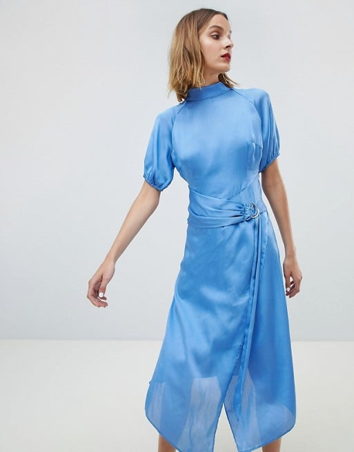 Lost Ink Midi Dress With High Neck