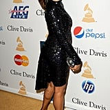 In 2011, Whitney wore sequins to Clive's pre-Grammys party.