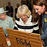 When She Realises the Duchess of Cambridge Got the Better Gift Basket