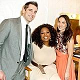 Aaron Rodgers, Oprah Winfrey, and Olivia Munn