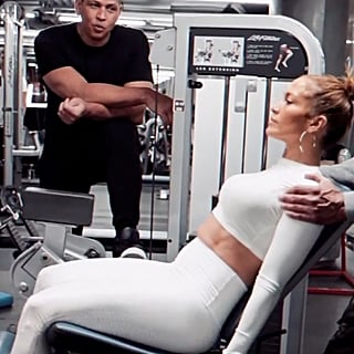 Watch Alex Rodriguez Propose to Jennifer Lopez All Over Again During Their Sweaty Gym Sesh