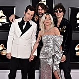 Pictured: Mark Ronson, Andrew Wyatt, Lady Gaga, and Anthony Rossomando