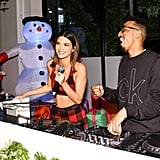Kendall Jenner Wore PJs to a Holiday Party