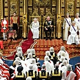 Queen Elizabeth II and Prince Charles during the State Opening of Parliament in 2019.