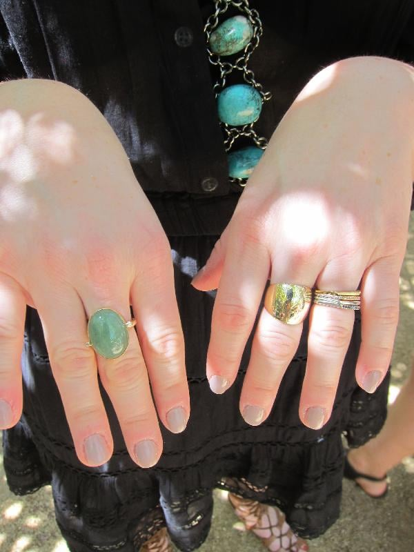 This festivalgoer's metallic manicure was edgy and cool. Photo: Meg Cuna