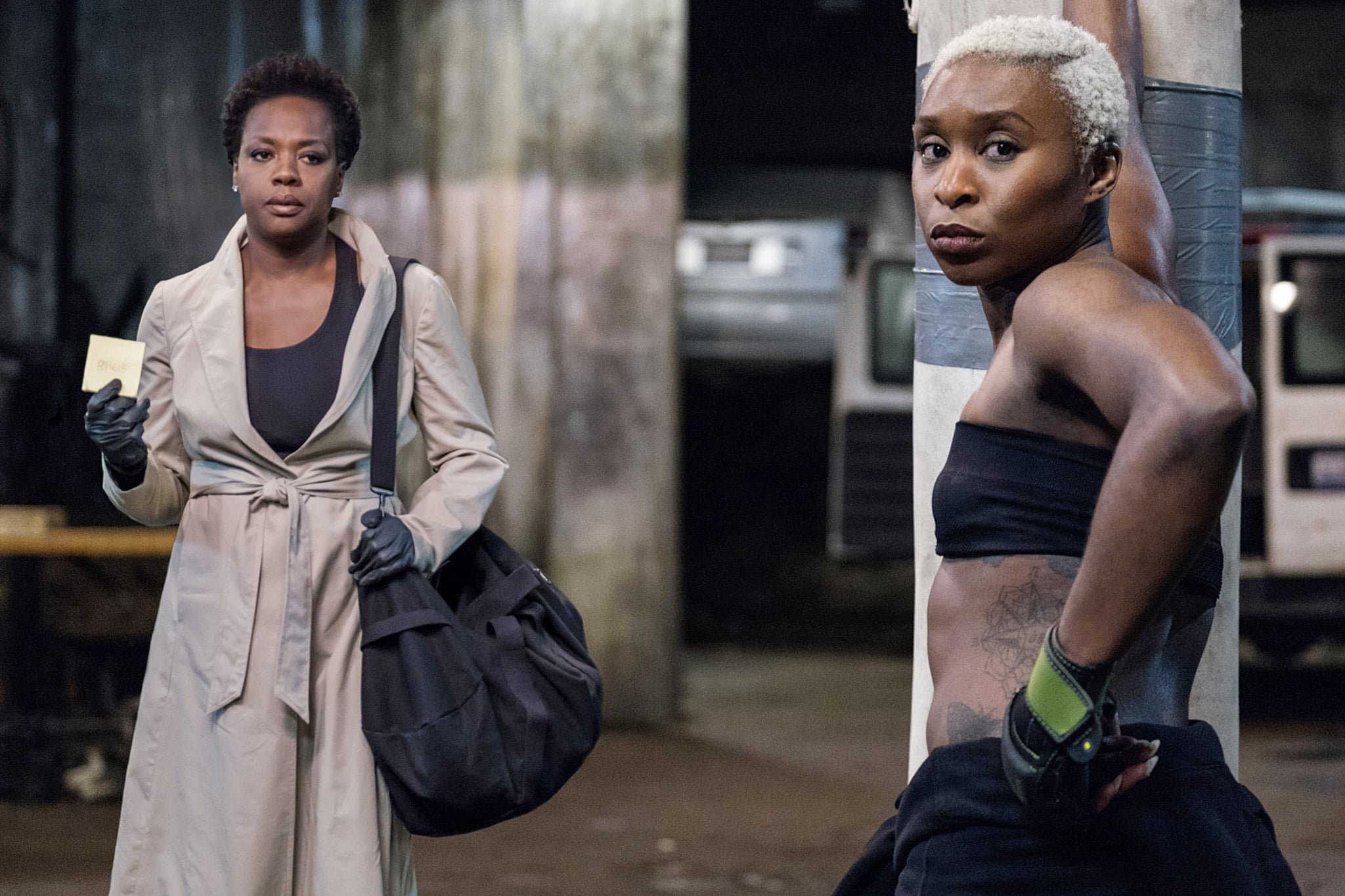 WIDOWS, from left: Viola Davis, Cynthia Erivo, 2018. ph: Merrick Morton /TM & copyright  Twentieth Century Fox Film Corp. All rights reserved. /Courtesy Everett Collection