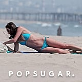 Desiree Hartsock enjoyed some time to herself on the beach.
