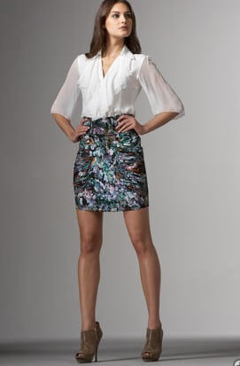 Catherine Malandrino Abstract-Print Mini Skirt