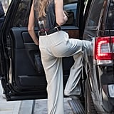 Gigi Hadid in High-Waisted Trousers
