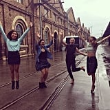 Jumping for joy! We made it through Australian Fashion Week in one piece — this excitement was led mostly by the prospect of sleep.