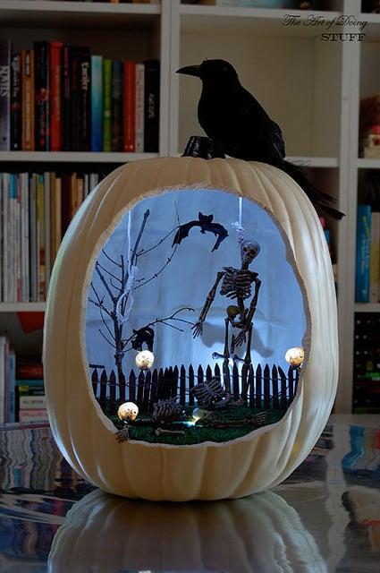 Spooky Skeleton Scene