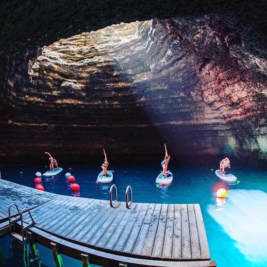 Paddleboard Yoga Class in Utah Crater