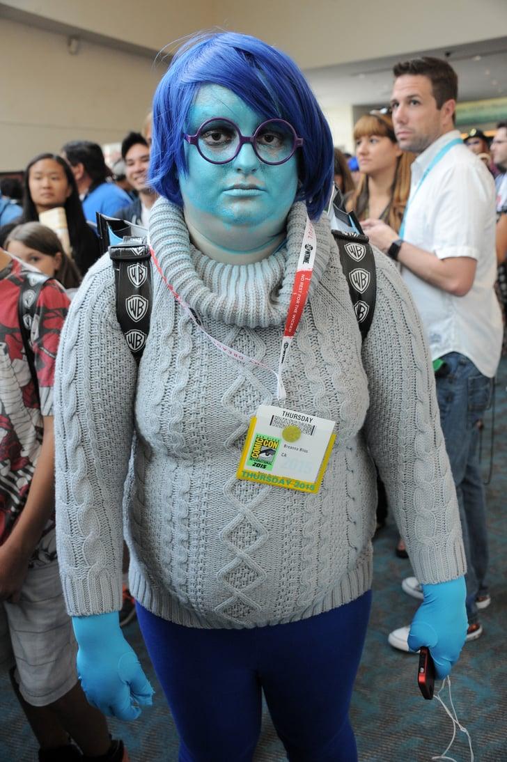 sadness disney costumes at comic con 2015 popsugar