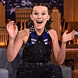 Millie Bobby Brown at The Tonight Show Starring Jimmy Fallon in 2017