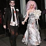 Christina Aguilera and Jordan Bratman as a Zombie Bride and Groom