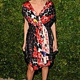 A floral dress looks gorgeous on Tory Burch.