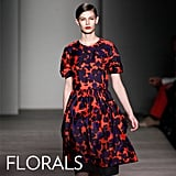 Why we love them: We love florals on our Spring and Summer clothes and couldn't be more excited that the print is getting a moodier Fall makeover we can wear all season. How to wear them: Fall's flower prints are all the more unexpected and fun to mix and match with our seasonal knits and boots. Style them up with high-heeled Mary Janes and tights by day and a pair of high-heeled boots and a leather jacket by night.  In this photo: Marc by Marc Jacobs Fall 2012