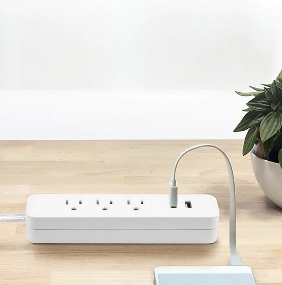 Globe Electric Designer Series 3-Outlet USB Power Strip