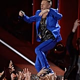 Macklemore put forth his best moves on stage.
