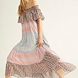 Something Real Plaid Maxi Dress