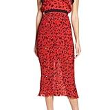 Foxiedox Sassa Print Pleat Midi Dress