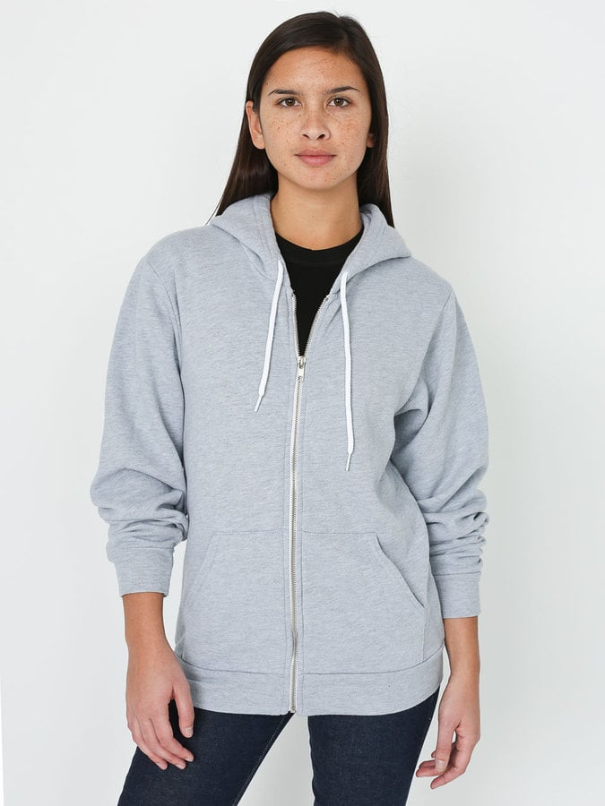 American Apparel Unisex Fleece Zip Hoodie