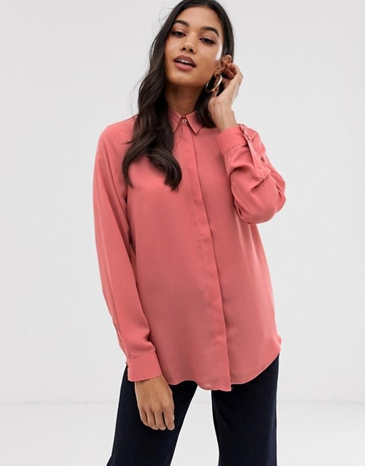 ASOS Design Soft Long-Sleeve Shirt