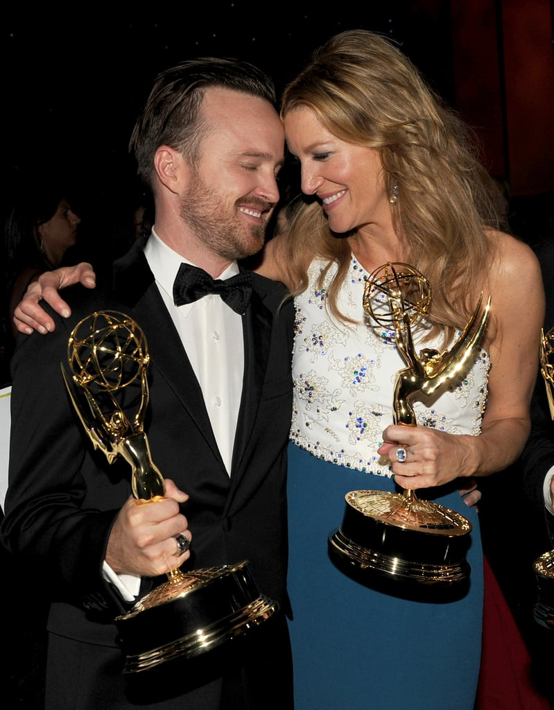 Anna Gunn and Aaron Paul celebrated at the Governors Ball.