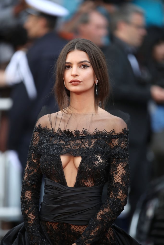 Emily Ratajkowski Peter Dundas Dress at Cannes 2017