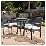 Ridley Wicker Patio Bistro Set With Cushions
